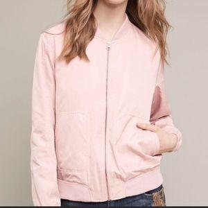 Anthropologie Hei Hei Journey Bomber Jacket Pink